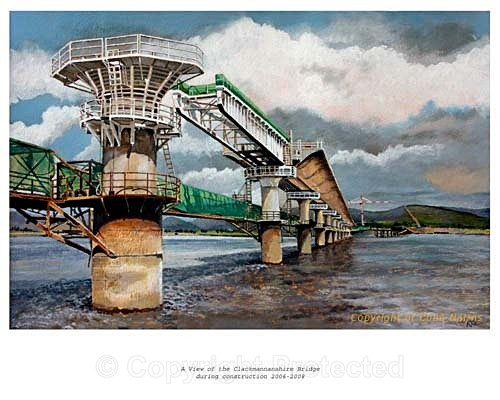'Clackmannanshire Bridge - under construction' - Commissioned Work
