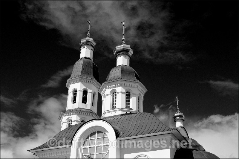 Archangel two spires 2 bw   - Archangel, Russia