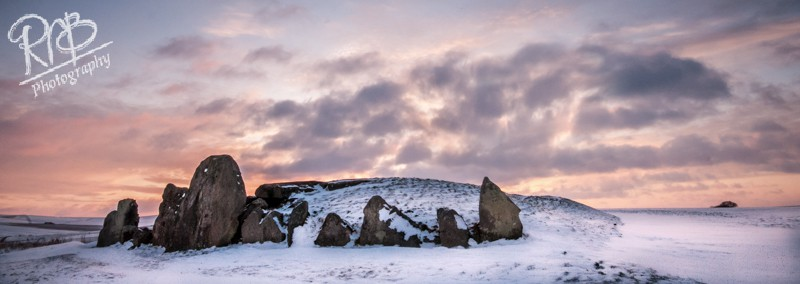 West Kennet Longbarrow - Winter - Panoramic Images