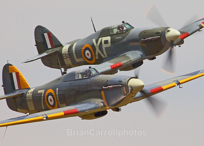 RAF.Hawker Hurricanes - Shuttleworth Air Show