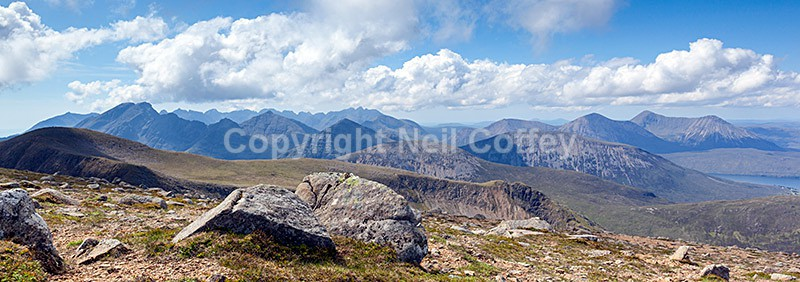 The Cuillin hills from Beinn na Caillich, Isle of Skye - Panoramic format