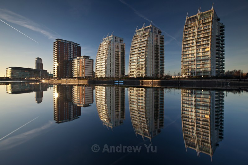 Reflections of Salford Quays - Urban Landscape Photography