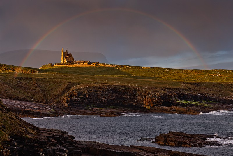 Classiebawn Castle Under A Rainbow - Mullaghmore County Sligo