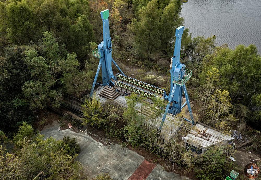 Six Flags (New Orleans, LA) | Lex Luthor's Invertatron Ride - Six Flags New Orleans
