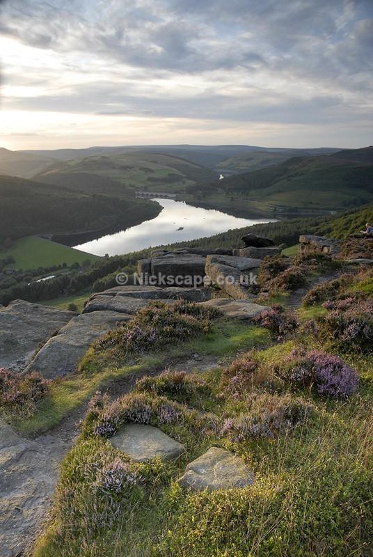 Ladybower Reservoir from Bamford Edge   Peak District Photographs