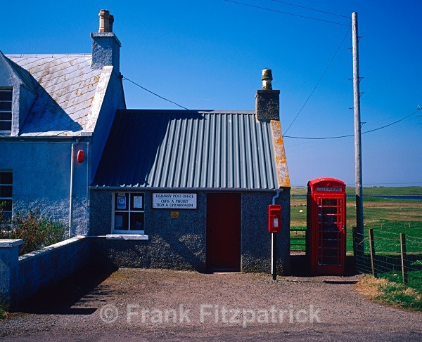 Tigharry Post Office, North Uist, Outer Hebrides, Scotland. - North Uist