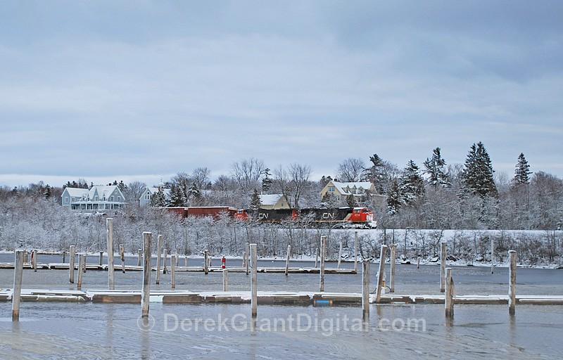 Snow Train - CNR Rothesay New Brunswick Canada - Winterscape
