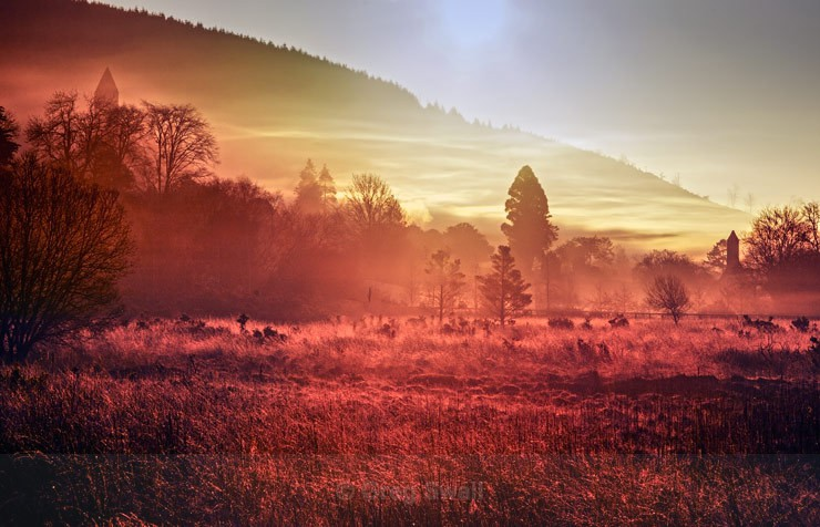 Mist at Dawn - Landscapes of Ireland - Glendalough and the Wicklow Mountains