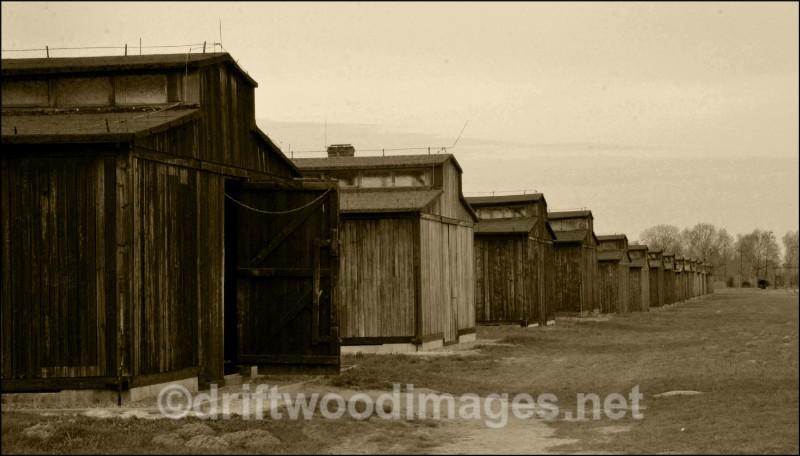 Birkenau  huts sepia - Auschwitz/Birkenau