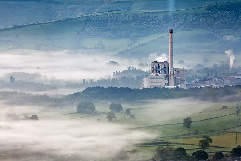 Hope Cement Works at Dawn | Misty Peak District Photography