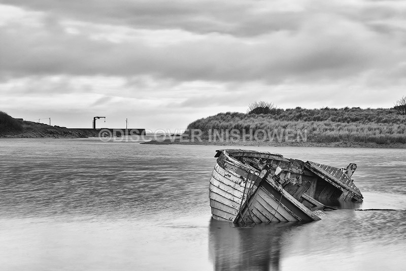 Old boat,Culdaff - Inishowen peninsula- B&W
