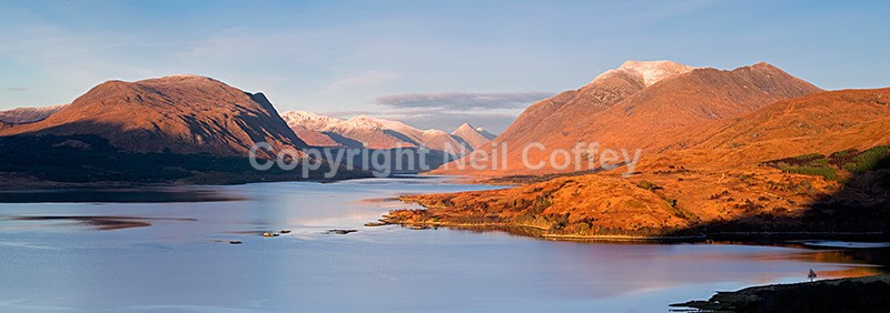 The Etive Hills, Ben Starav and Loch Etive, Argyll & Bute - Panoramic format