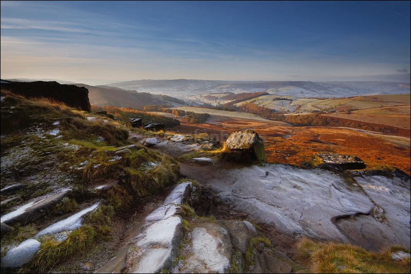 Early Frost on Stanage Edge - Peak District Winter