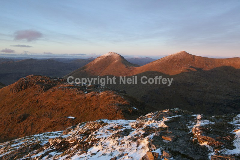 Ben More & Stob Binnean from Cruach Ardrain, Stirlingshire2 - Landscape format