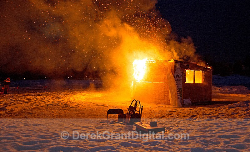 Ice Shack on Fire - Ice Shacks