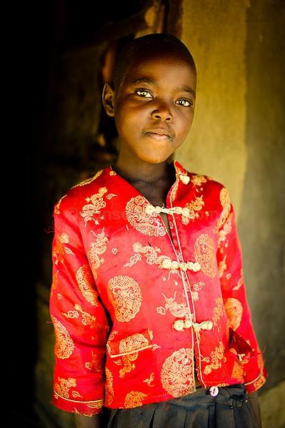 Lady in Red, Gulu, Uganda