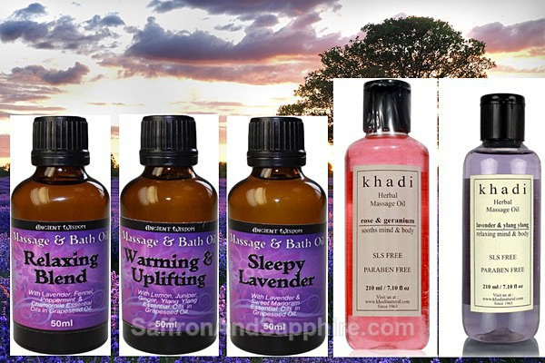 Massage Bath Oils