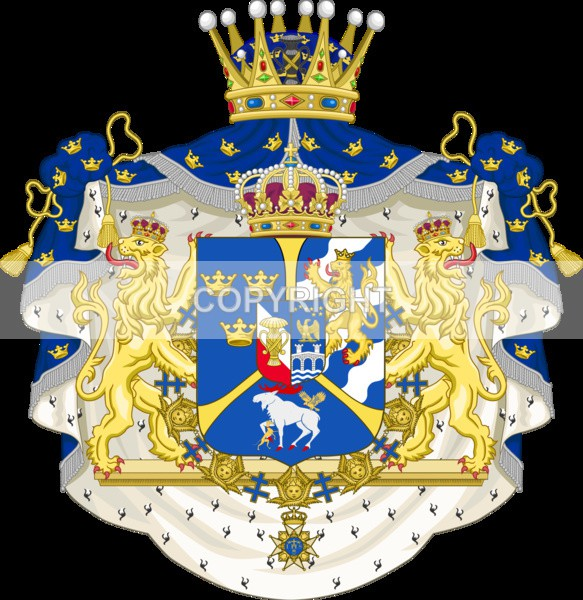 King of Sweden - Heritage Family Name and Coat of Arms Store