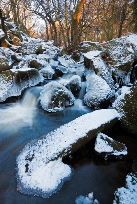 Padley Gorge, Peak District | Icy Winter Stream