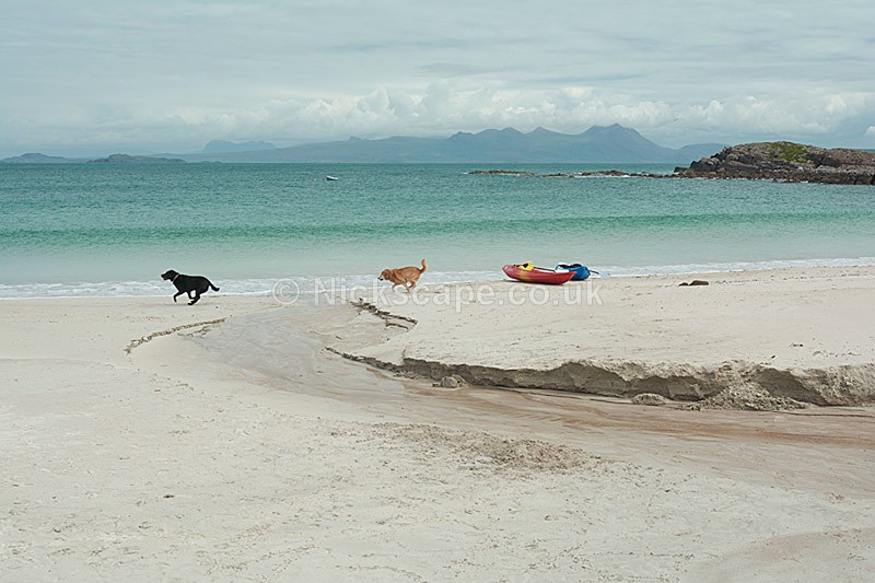Kayaks at Mellon Udrigle Beach - Wester Ross - Scottish Highlands - Scotland