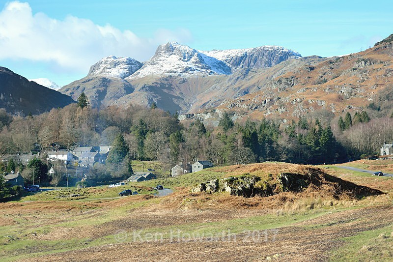 A winter day, Elterwater and the Langdales - Lakeland Landscapes