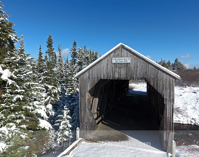 Little Lepreau River Covered Bridge #1.5 Mill Pond NB Canada 1910 - Covered Bridges of New Brunswick
