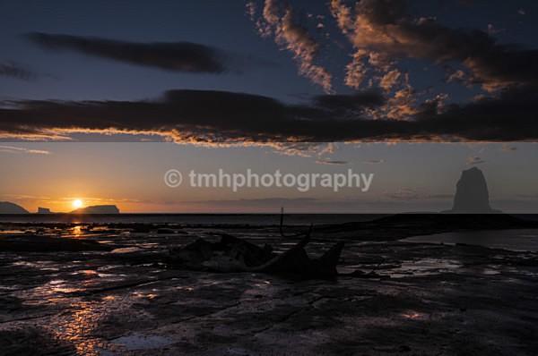Nab Sunset. - Yorkshire Coast