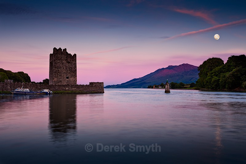 Moonrise At Narrow Water Castle - Warrenpoint