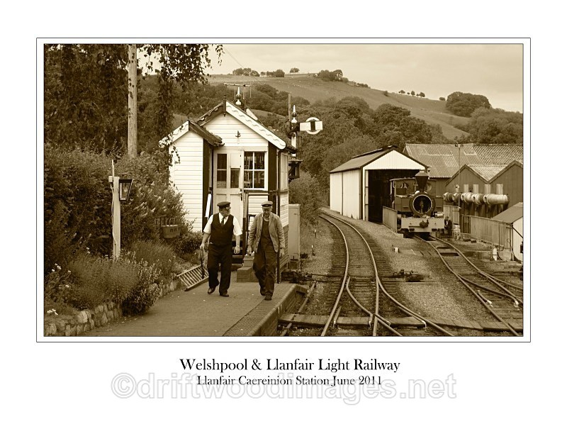 Llanfair Caereinion station and signal box on a hot Saturday - The Welshpool & Llanfair Light Railway
