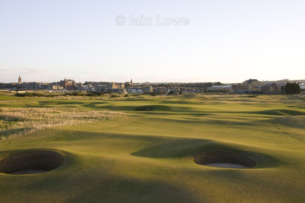 St Andrews Old Course 15th approach - St Andrews Old Course