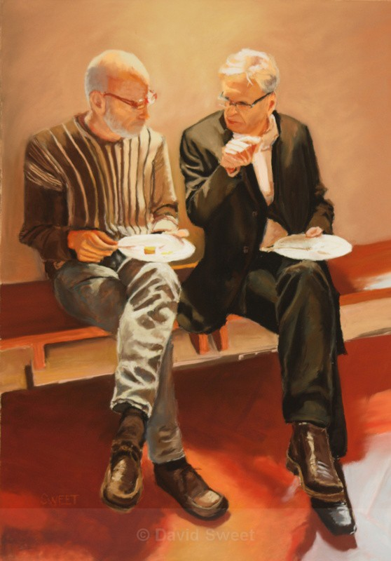 The working lunch - Paintings