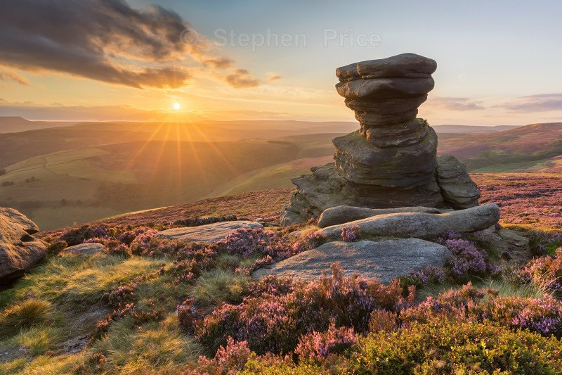 Salt Cellar at Sunset | Peak District Heather Photography