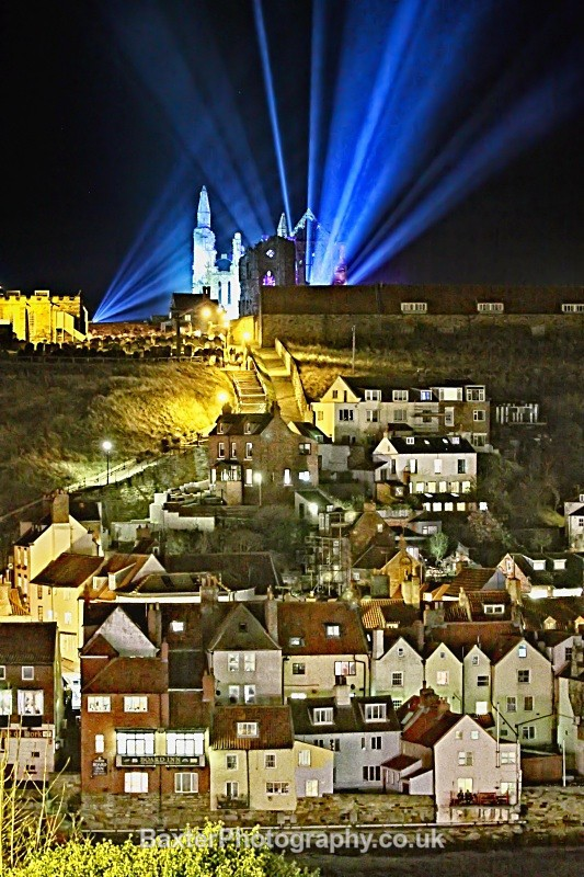 Whitby Abbey On A Victorian Gothic Night (Portrait) - Whitby