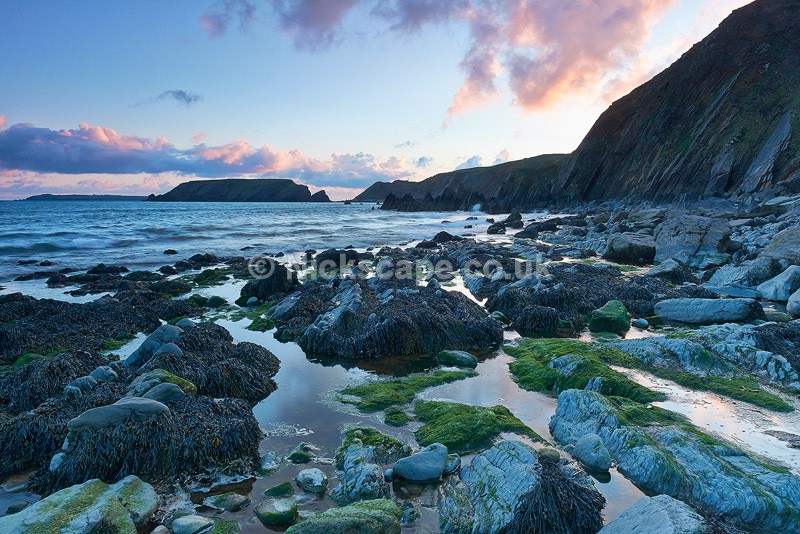 Sunset at high tide at Marloes Sands   Pembrokeshire   Wales Landscape Photography Gallery