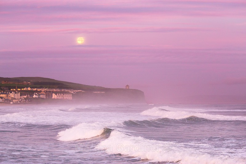 Mussenden Moonset - Ireland by Day