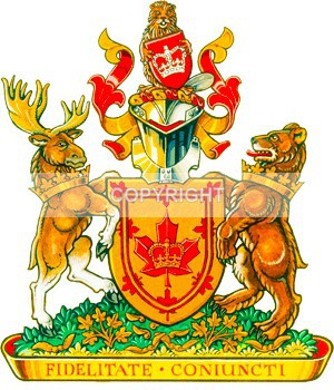 League Coat of Arms - Edmonton / Northern Alberta Branch of the Monarchist League of Canada