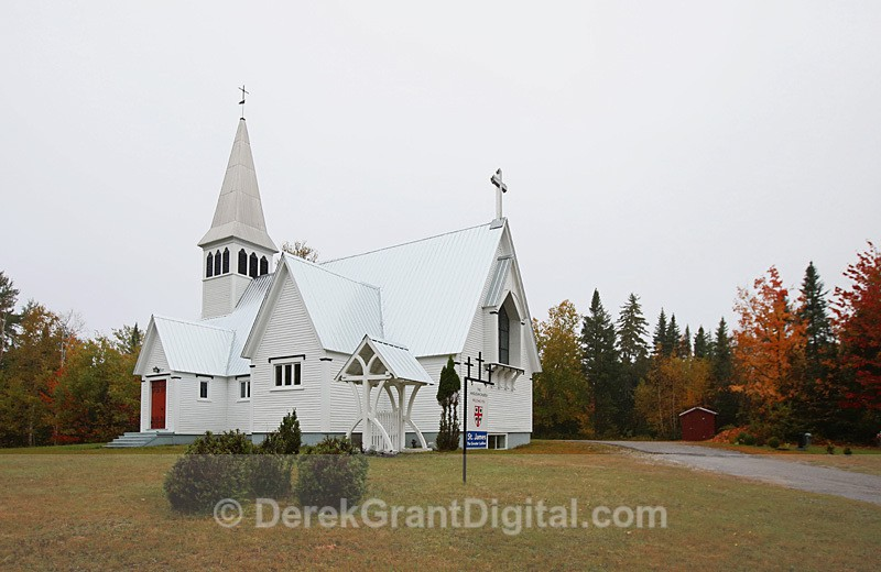 St. James the Greater Anglican Church Ludlow New Brunswick Canada - Churches of New Brunswick