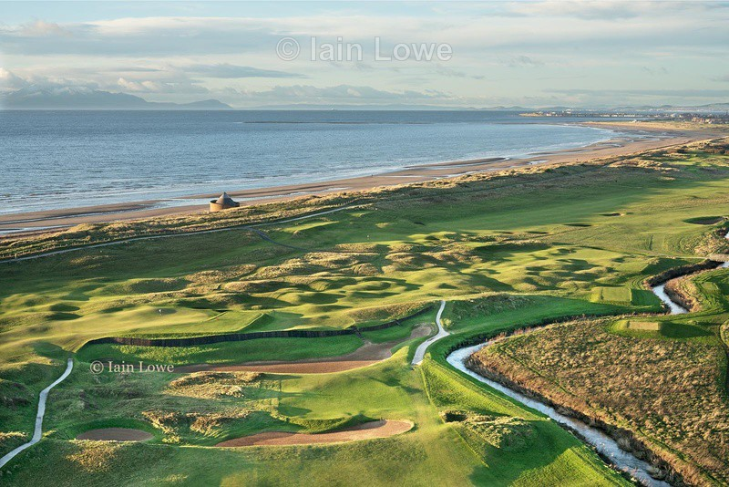 3rd hole and Cartgate bunkers - Prestwick Golf Links