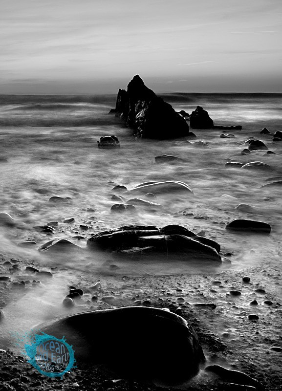 Stepping Stones - Black and White