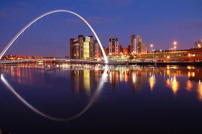 Baltic Arts Centre and Gateshead Millennium Bridge | Architecuture Photography by Nick Cockman