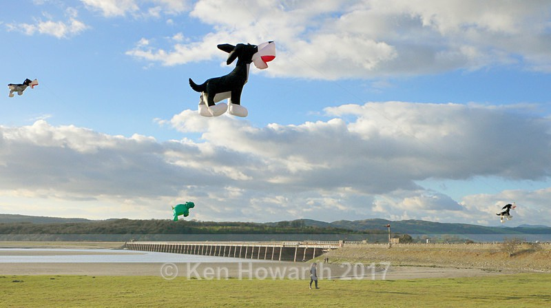 Kite-flying at Arnside - Lakeland Landscapes