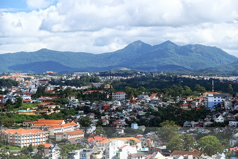 Da Lat & Lang Biang Mountain, Vietnam - view from cable car station - Vietnam