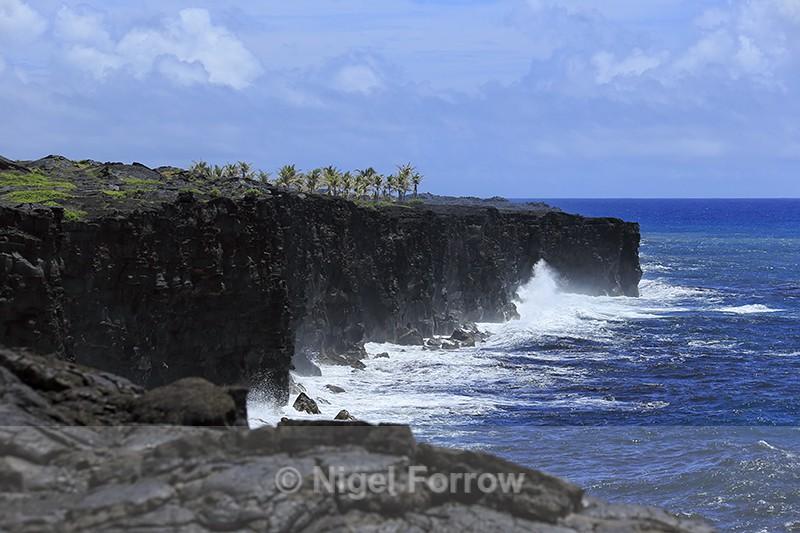 Lava cliffs near Holei Sea Arch, Hawaii - Hawaiian Islands, USA