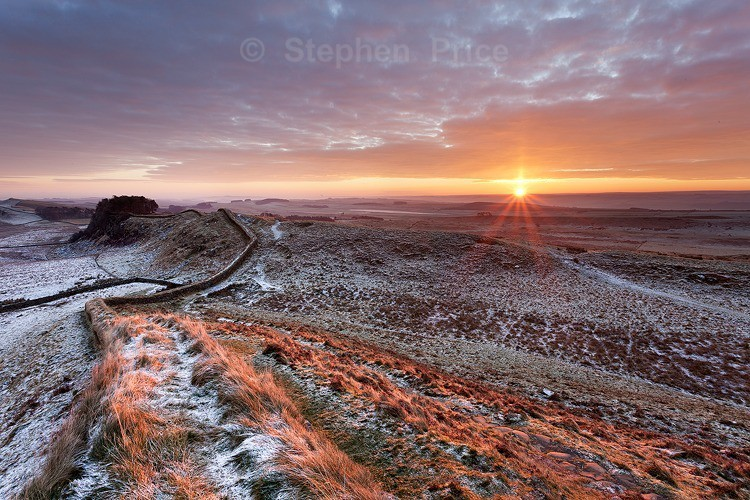 Northumberland National Park | Sunrise over Hadrians Wall