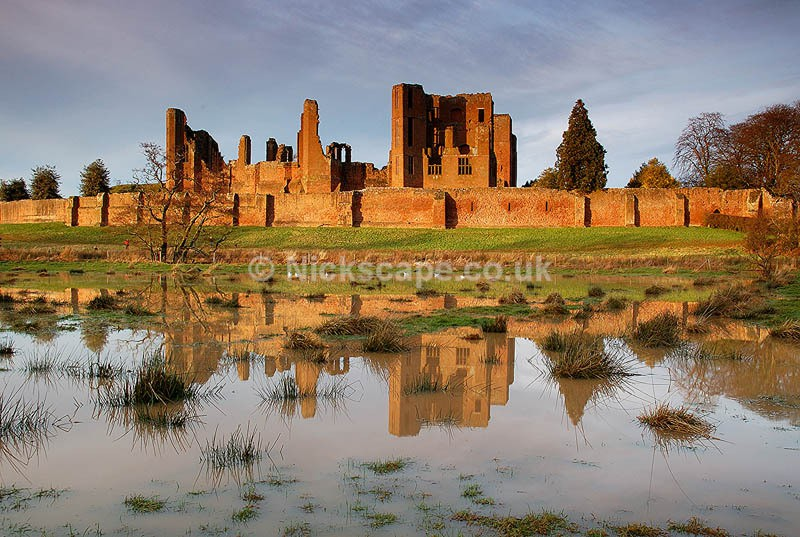 Kenilworth Castle | Photograph of the Kenilworth Moat during flood | Warwickshire Landscapes