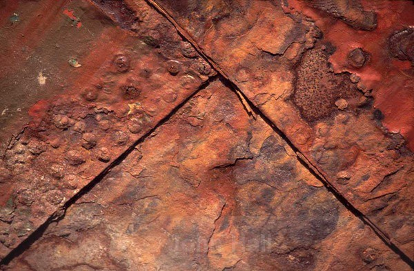 detail of old rusty ship.