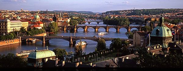 Bridges at sunset - Prague