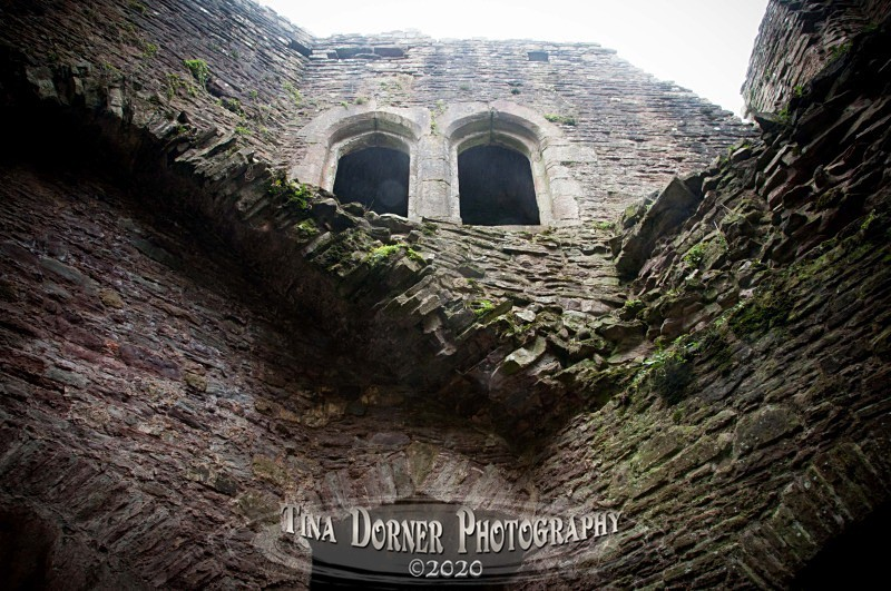 A surprised face in walls at Raglan Castle, Monmouthshire. from 'Hidden Stone,' Forest of Dean and Wye Valley Portfolio by Tina Dorner Photography