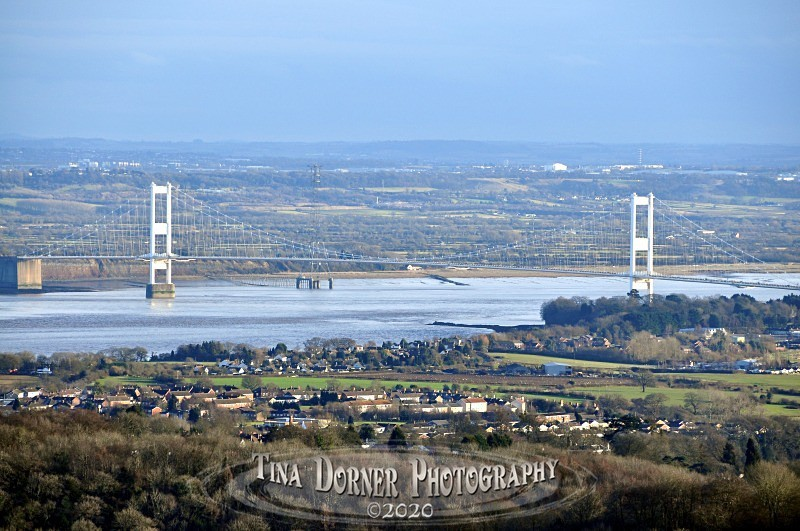 View of Severn Bridge towards Bristol  from Monmouthshire by Tina Dorner Photography, Forest of Dean and Wye Valley, Gloucestershire