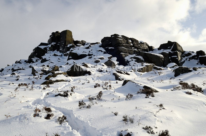 Snow at Over Owler Tor - Peak District, UK - Peak District Landscape Photography Gallery